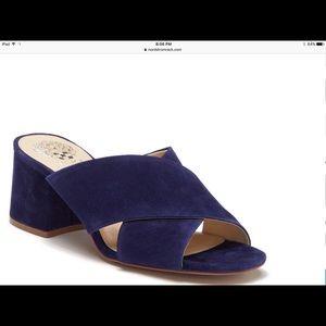 Vince camuto suede blue shoes